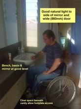 Accessible basin